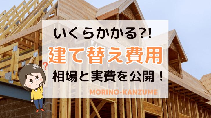 家・新築の建て替え費用はいくら?