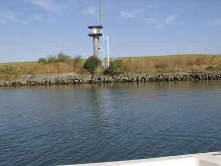 ⑥笹目下の水位計測塔