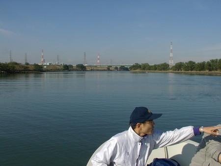 ③漁船係留点からスタート方向を見る
