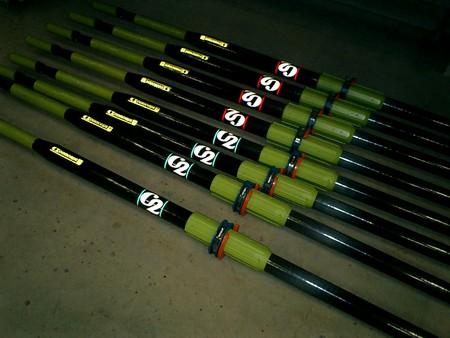C2新オール:黄緑色のスリーブ