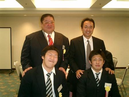 H18年度平塚市スポーツ賞受賞者と記念ショット