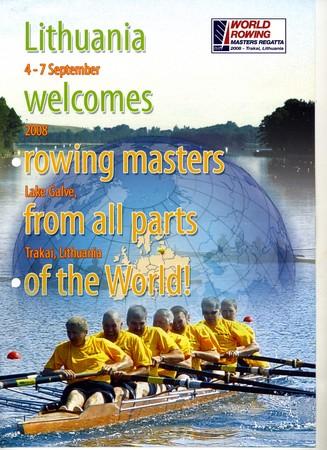 2008年World Masters Rowingポスター(トップコックス8+)
