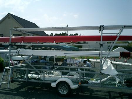 戸田から運んできた2X:烏騅(赤い艇)