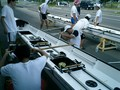 新型KF艇初乗り;でリギング調整を入念に実施。