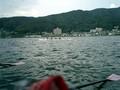 風下は風浪が発達してラフコンに!リガーに波頭が当たって艇内に少し