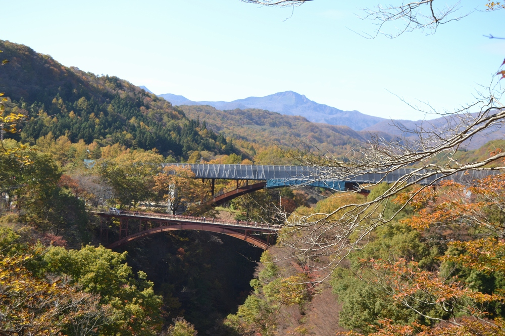 雪割橋が望める雪割橋展望台