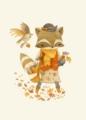 [狐][season 秋][color オレンジ][art 狐][animal][art 秋] 秋のキツネ。