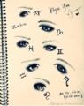 [星座][art 星座][art 目][art 占星術][color 青][style 星座][イラスト][占星術] 星座たちの目