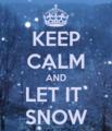 [KEEP CALM][文字|KEEP CALM][クリスマス][season|冬][season|クリスマス][color|青][style|クリスマス][英語] let it snow
