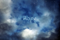 [color|青][空][文字|Hope][英語][希望] hope