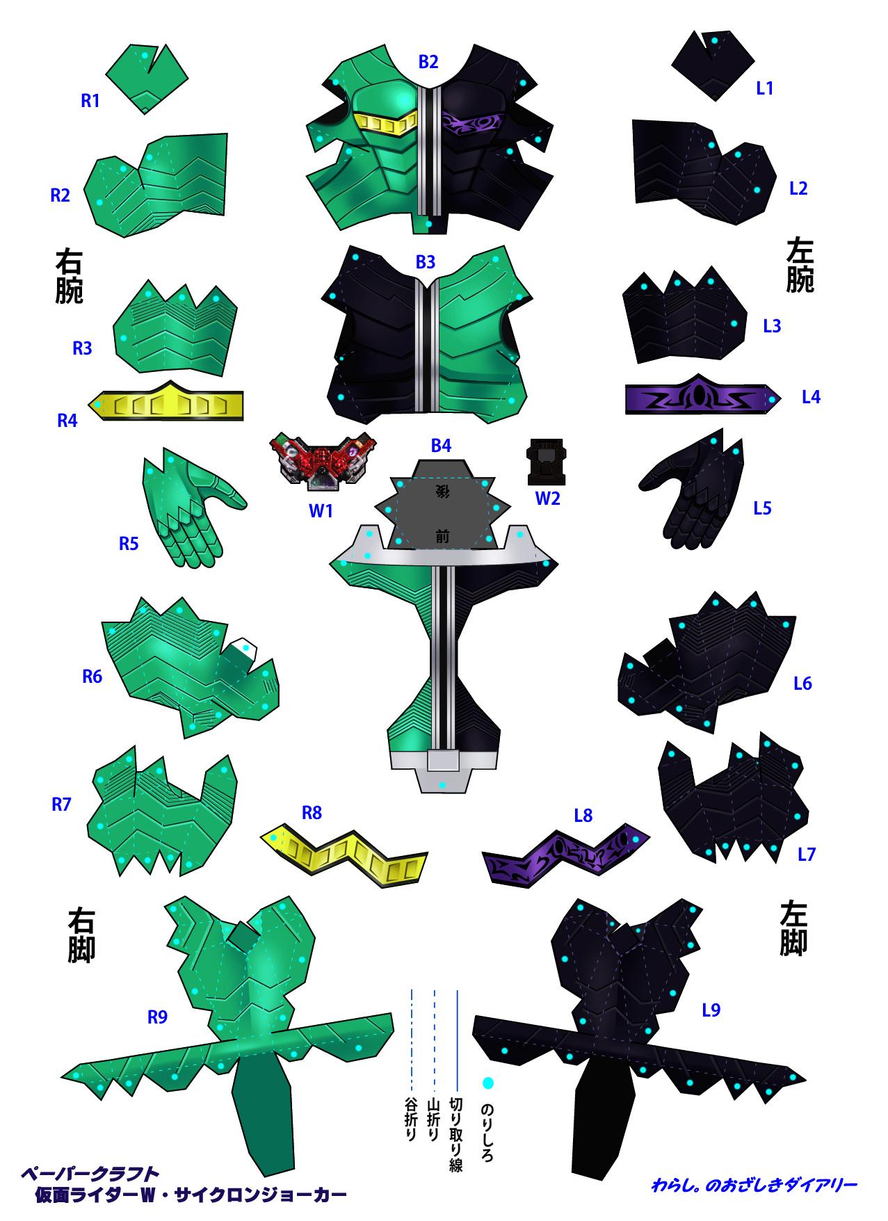 AKaRiPap Kamen Rider W Double Papercraft