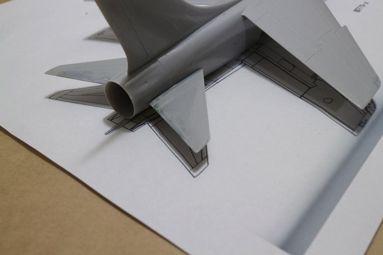 F-8E (FN)の改修した尾翼