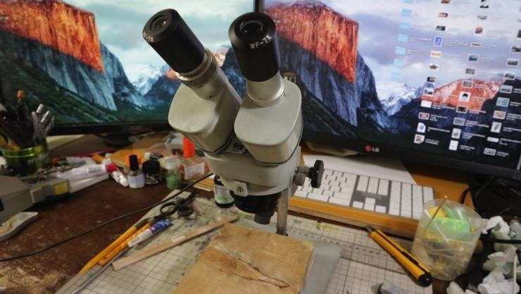 歯科技工用の双眼実体顕微鏡