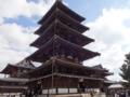 法隆寺の五重塔。