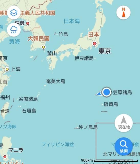 小笠原諸島の位置