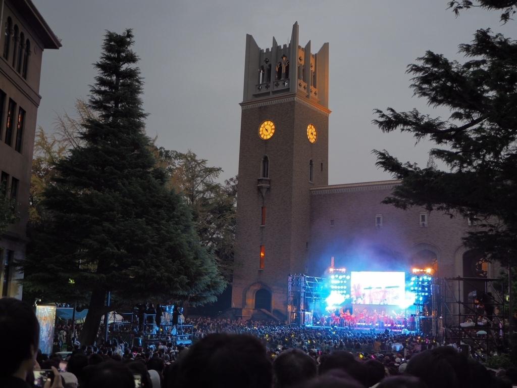 早稲田祭のステージ