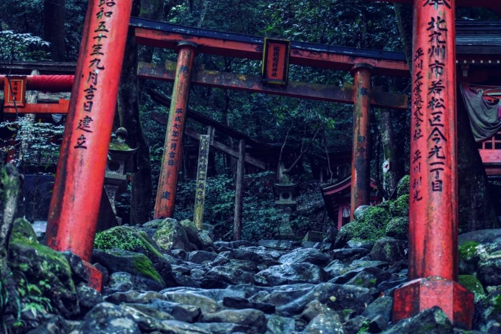 祐徳稲荷神社の奥の院へと続く階段