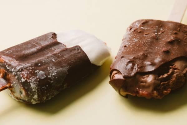 チョコレートのアイス