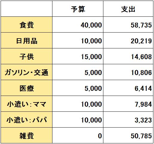 2017年2月度(2/20~3/19)の支出(変動費)