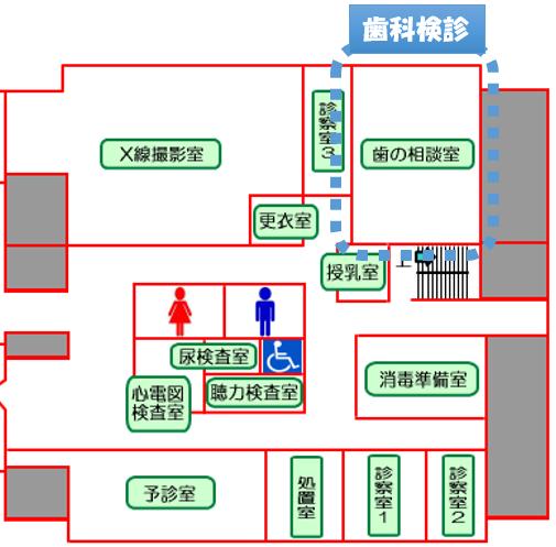 岡山市1歳6ヶ月健診の歯科健診