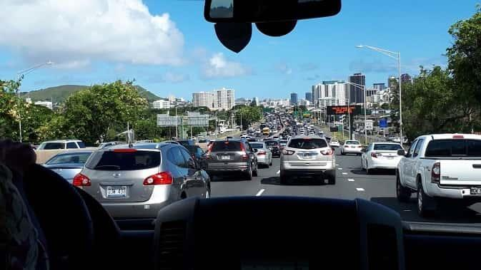 ハワイ渋滞