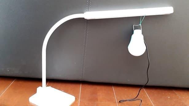電球型LEDライト取り付け