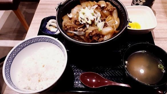 吉野屋牛鍋定食