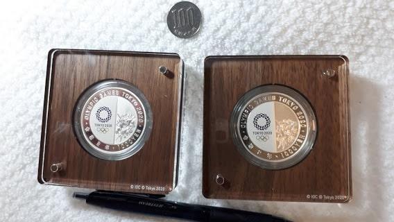 東京オリンピック1000円銀貨幣裏