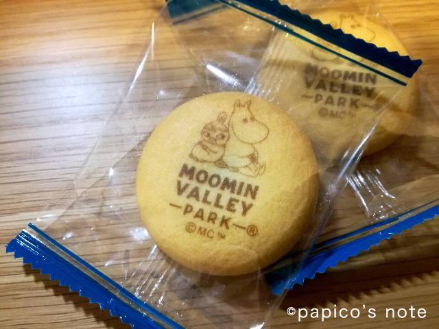 ムーミンバレーパークのグッズ ムーミン屋敷の缶に入ったお菓子チョコ入りクッキ−