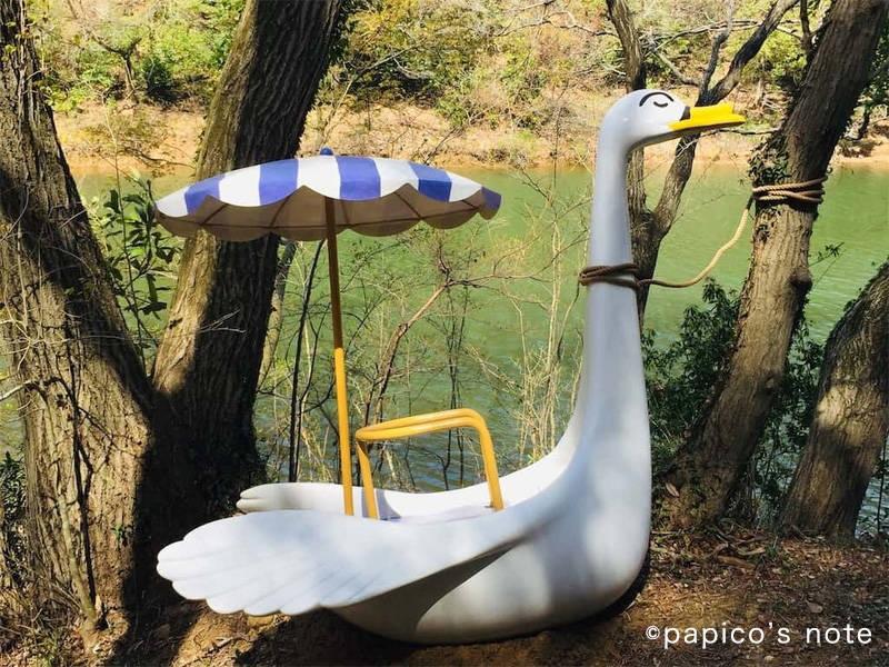 ムーミンバレーパーク 白鳥のボート?