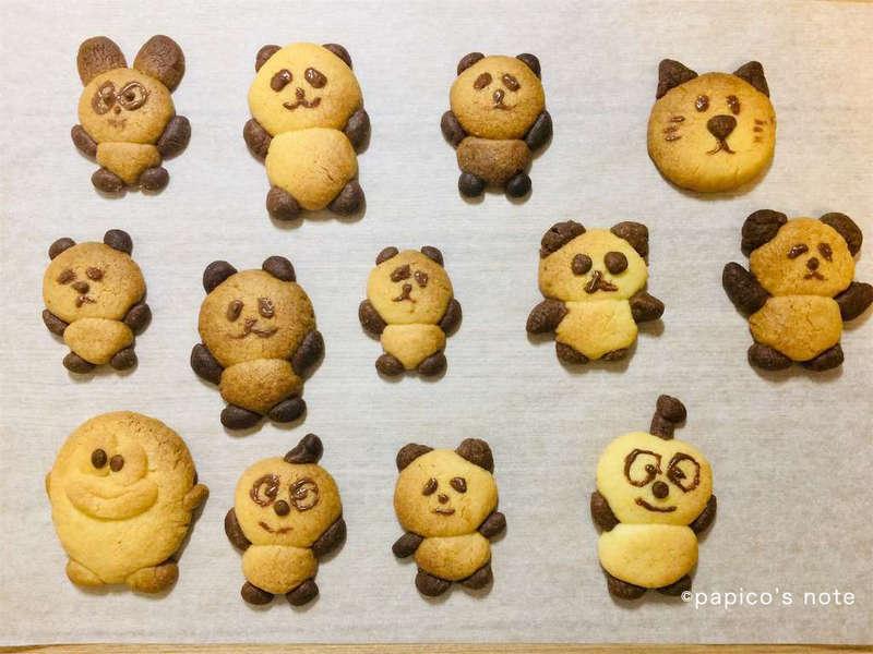 パンダクッキー 完成