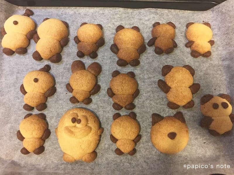 パンダクッキー 焼き上がり
