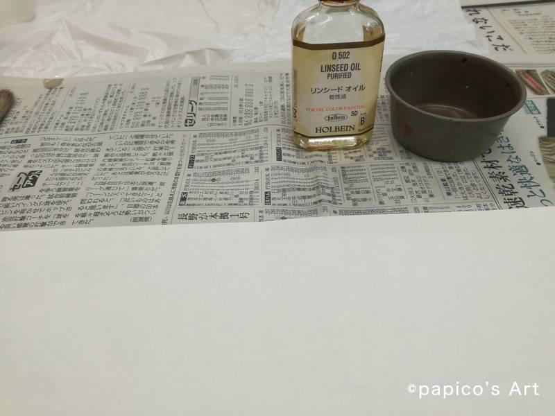 パウル・クレーの油彩転写ワークショップ 油と絵の具
