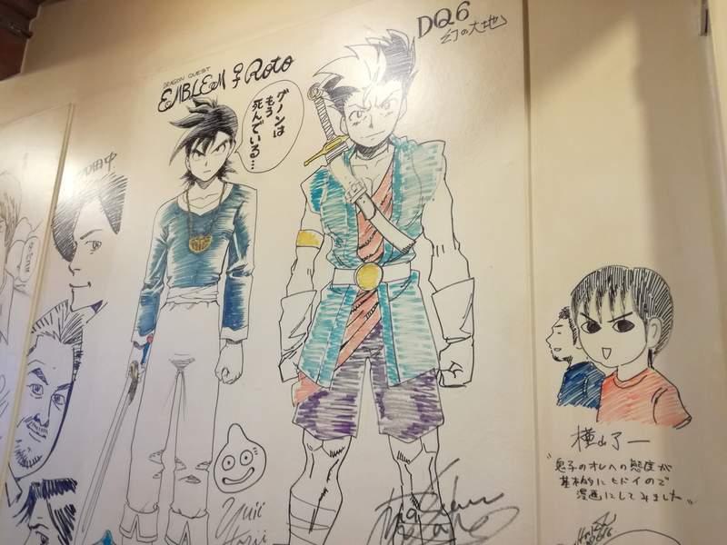 荻窪 イナズマカフェ 店内の壁