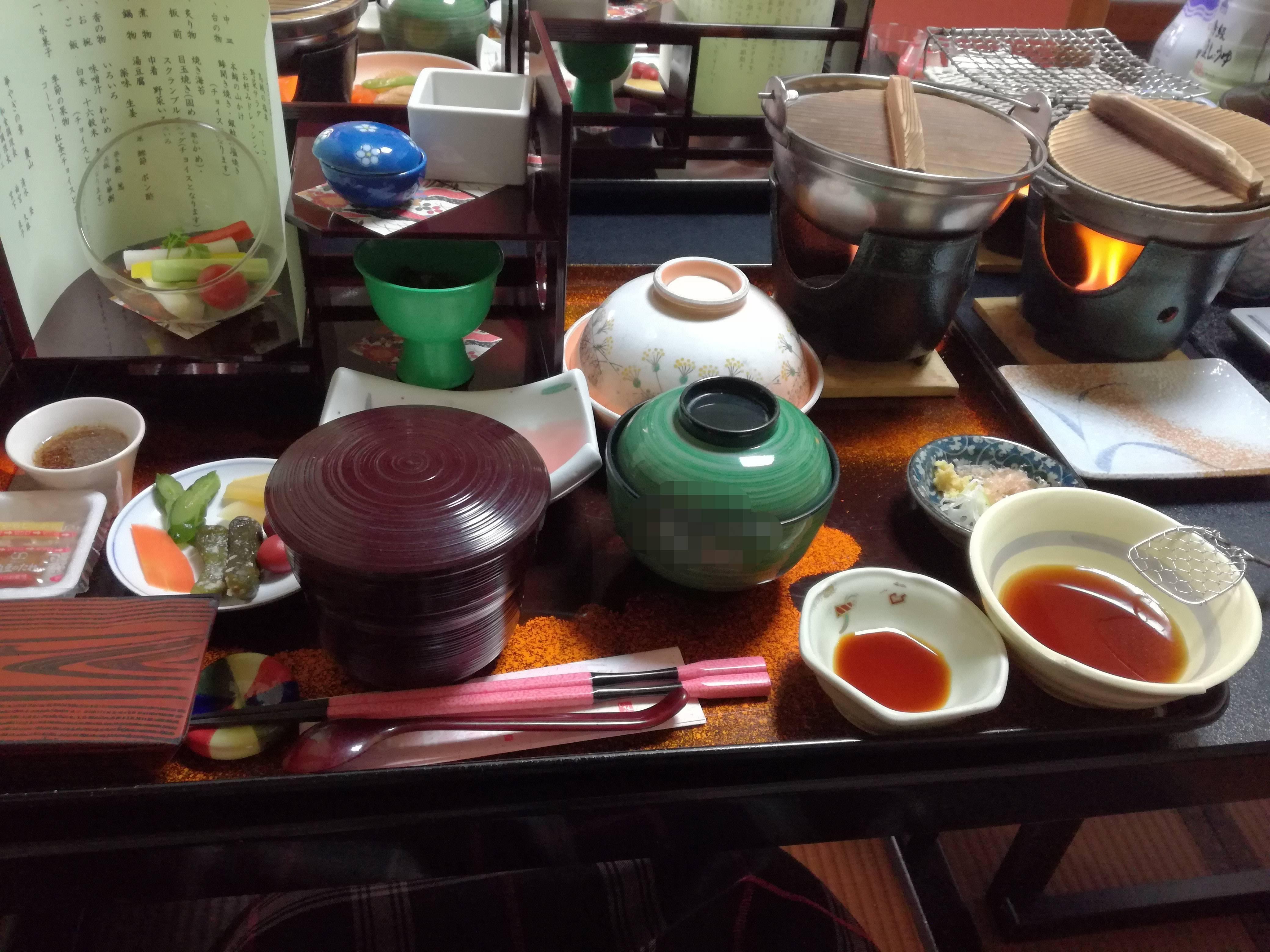 石和温泉 慶山 個室朝食