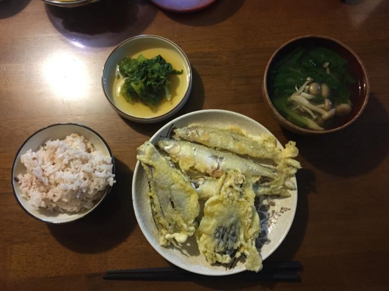 チカ わさび菜 天ぷら