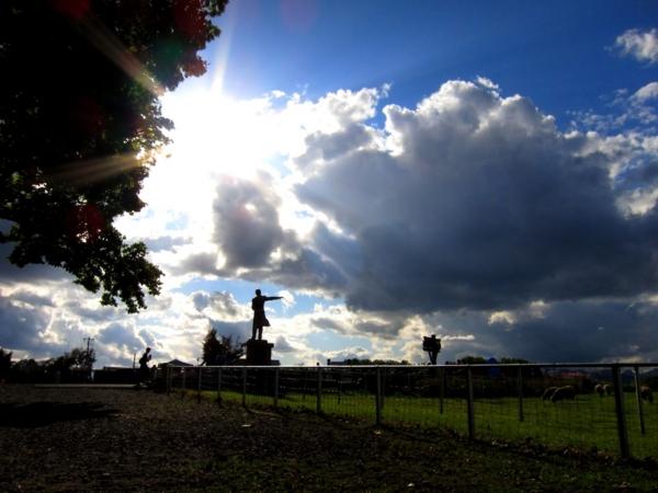 羊ヶ丘展望台 クラーク像 反対側