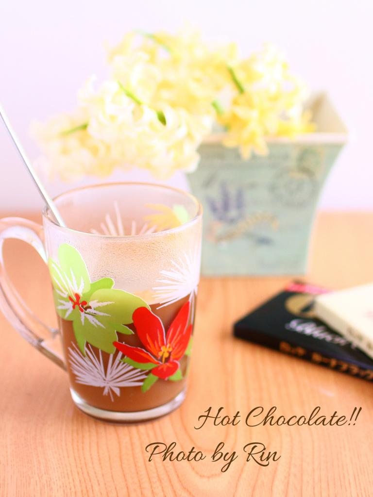 #手作りチョコガーナのホットチョコレート