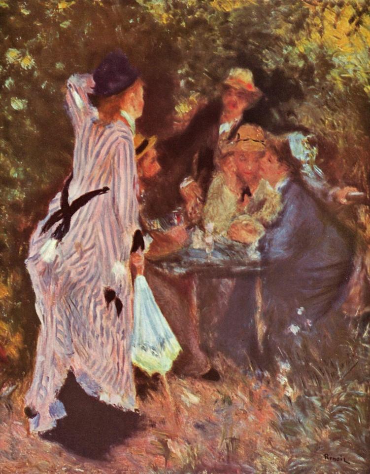 ルノワール 庭にて、ムーラン・ド・ラ・ギャレットの木陰