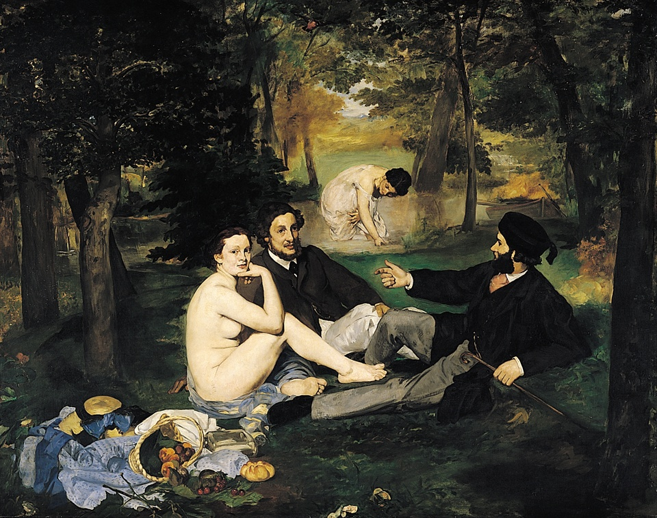 マネ 水浴 草上の昼食