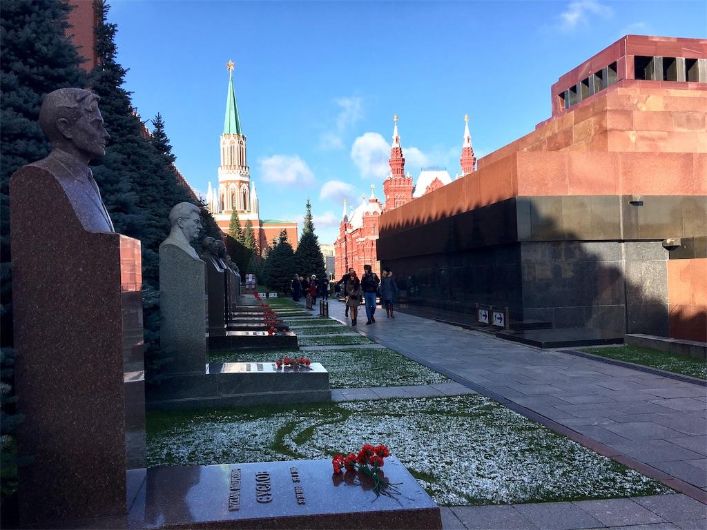 赤の広場にあるレーニン霊廟の裏