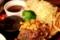 20110224 新宿三丁目 焼肉ブラックホールのハンバーグランチ