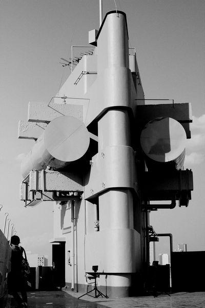 20110225 東新宿軍艦マンション屋上給水塔