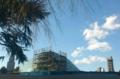 新宿御苑の温室新築工事は外の囲いが取れてきた(2011/01/05)