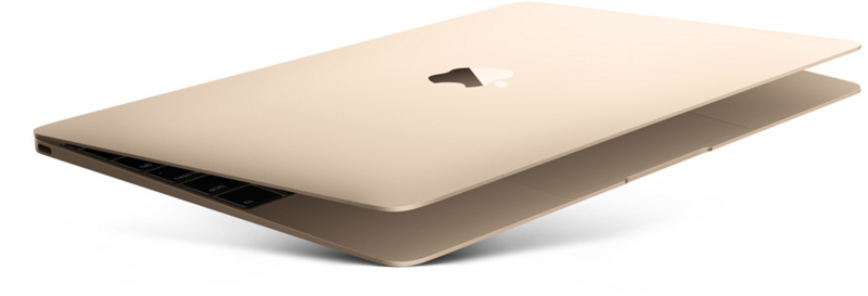 圧倒的に軽量、薄型のノートパソコンMacBook