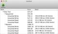 ファイルシステムをnoatime有効にしてマウント後のベンチマーク