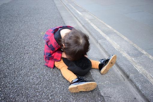 挫折する子ども