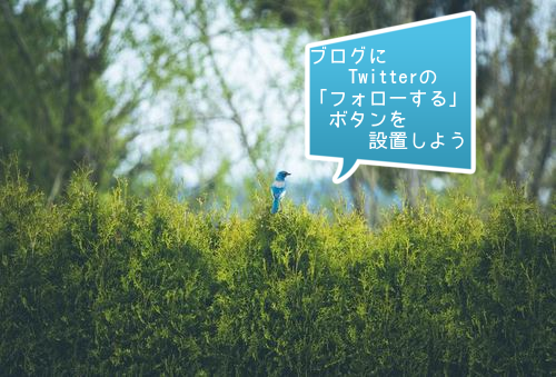 ブログにTwitterボタン「フォローする」を設置しよう