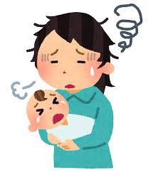 育児疲れの母親