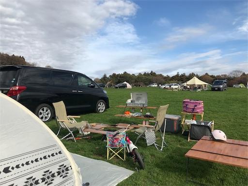 草原でデイキャンプ